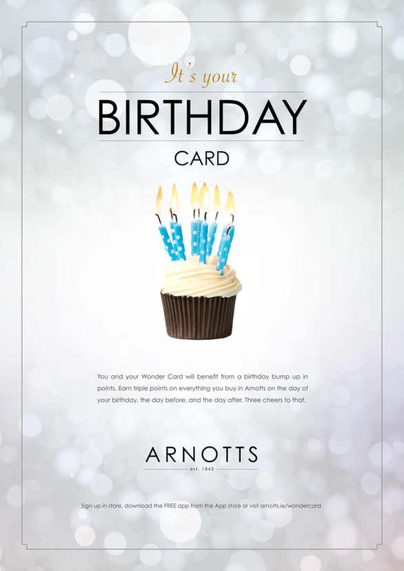 Arnotts Wondercard