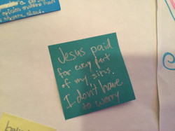 Jesus paid of every part of my sins.