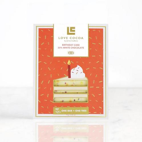 BIRTHDAY CAKE 35% WHITE CHOCOLATE BAR 75g