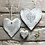 Thumbnail: Rustic heart coaster-Everything will work out