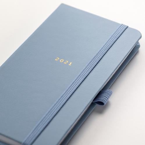 Slim Diary 2021 Blue Faux