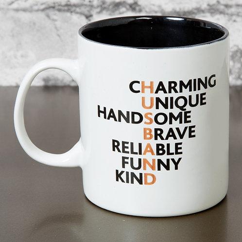 Hero Stoneware Mug-Husband Acronym