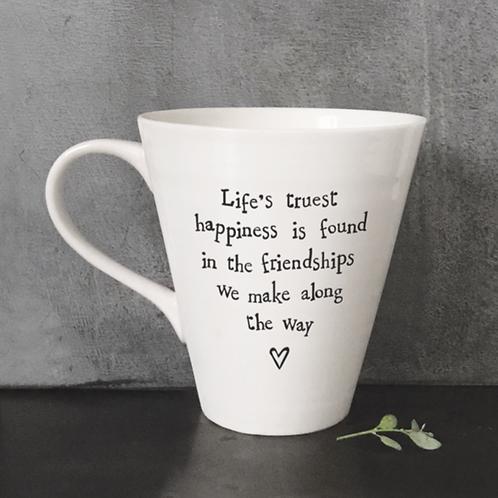Porcelain mug-Life's truest happiness
