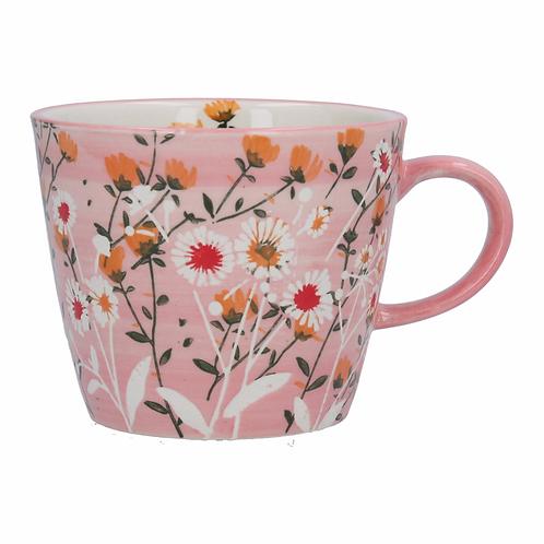 Ceramic Mug - Pink Wild Daisy