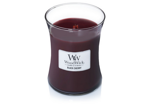 Black Cherry Woodwick Medium Candle