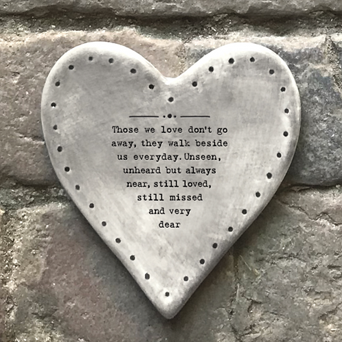 Rustic heart coaster-Those we love don't go