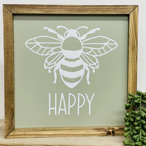 Bee Happy - Ltd Edition Sage Green