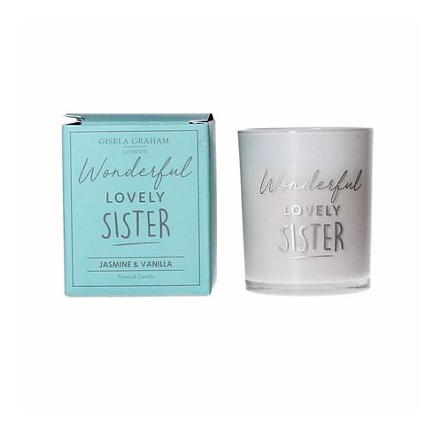 Boxed Sentiment Votive Candle - Sister