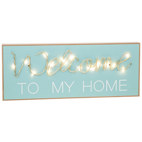 LED Oblong String Plaque Welcome