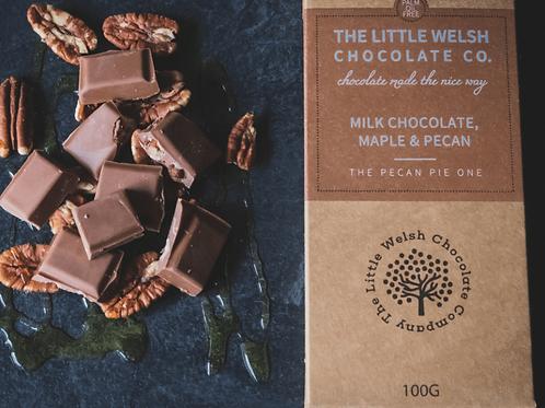MILK CHOCOLATE, MAPLE & PECAN