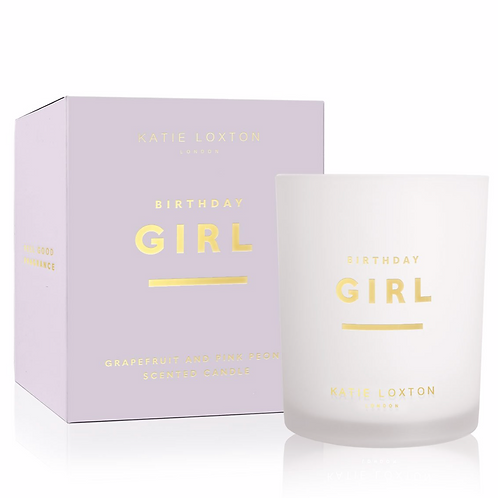 SENTIMENT CANDLE   BIRTHDAY GIRL   GRAPEFRUIT AND PINK PEONY
