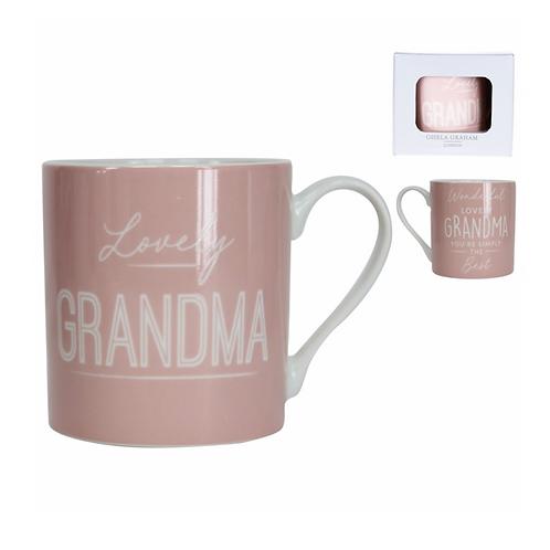 Boxed Sentiment Mug - Pink/Grandma
