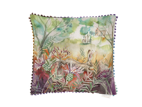 Hare and Thistles Cushion