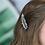 Thumbnail: Olive/tan mix animal spot and crystal hair clips