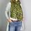 Thumbnail: Khaki scarf with metallic busy bee print