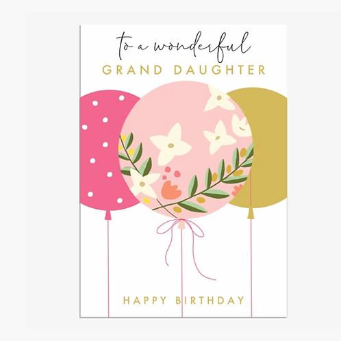 Grand Daughter Birthday
