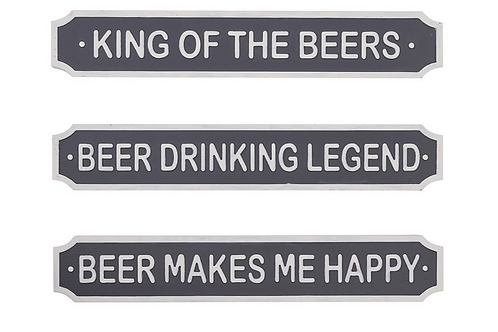 Beer Plaque Street Sign