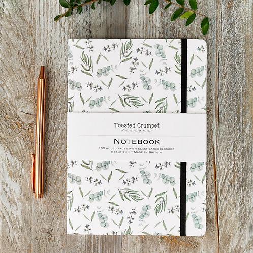 Eucalyptus Pure A5 Lined Notebook