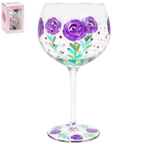 Floral Gin Glass-Rose