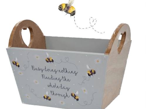 Bee Reading Crate