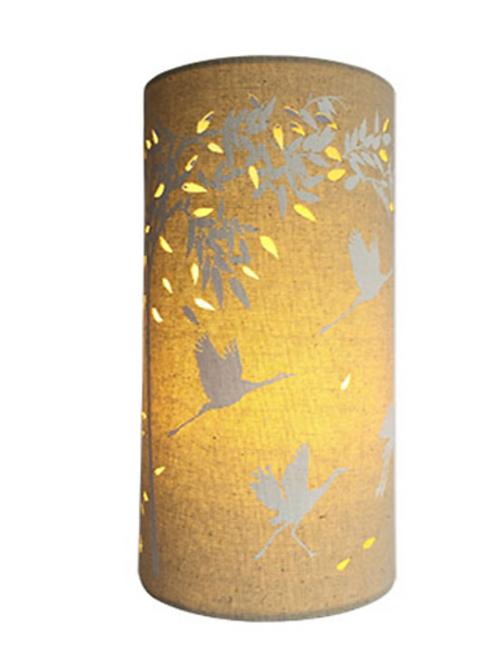 Fabric Lamp -Cranes and Bamboos Zenitude