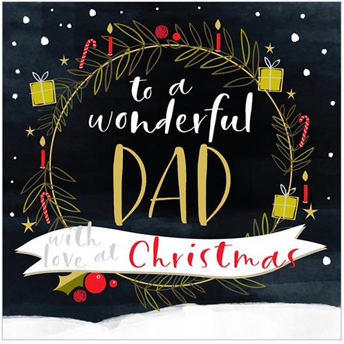 Wonderful Dad Christmas Card