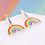 Thumbnail: Silver plated and enamel rainbow earrings