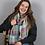 Thumbnail: Pale aqua and pastel mix check and mini star scarf
