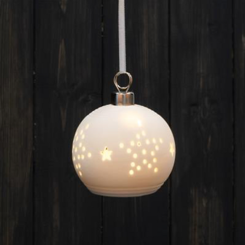 LED Star Design Bauble 8 cm