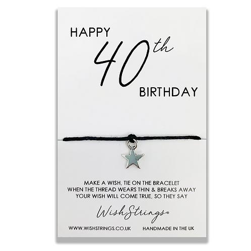 40th Birthday WishString