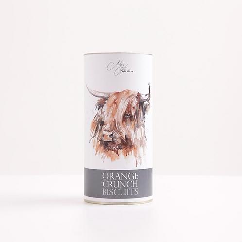 ORANGE CRUNCH BISCUITS - HIGHLAND COW DESIGN