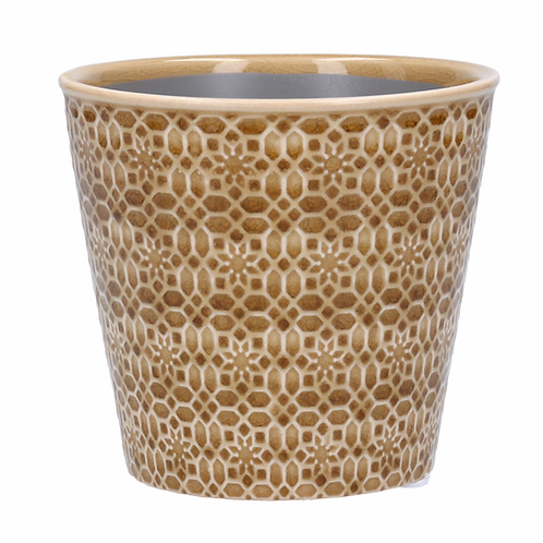 Ceramic Pot Cover 13.5cm - Sand Mosaic