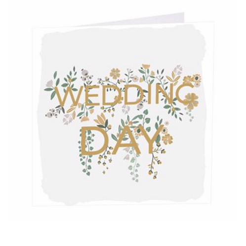 Wedding Day Flowers Card