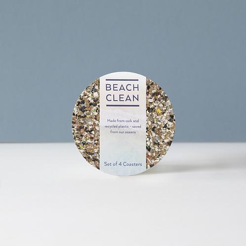 Beach Clean Round Coaster Sets