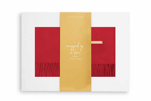 THICK PLAIN SCARF | RED