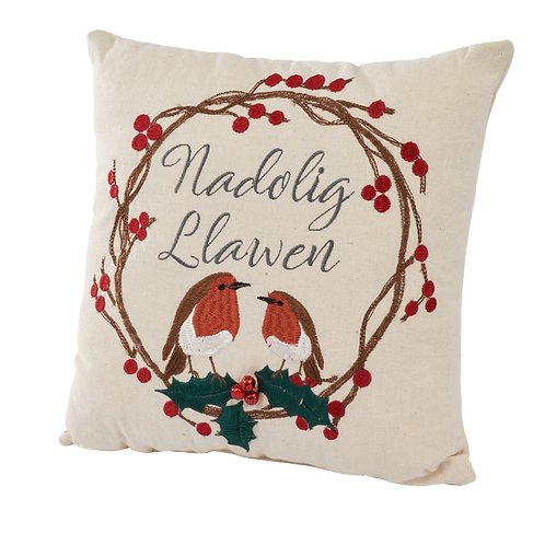 WELSH ROBIN CUSHION