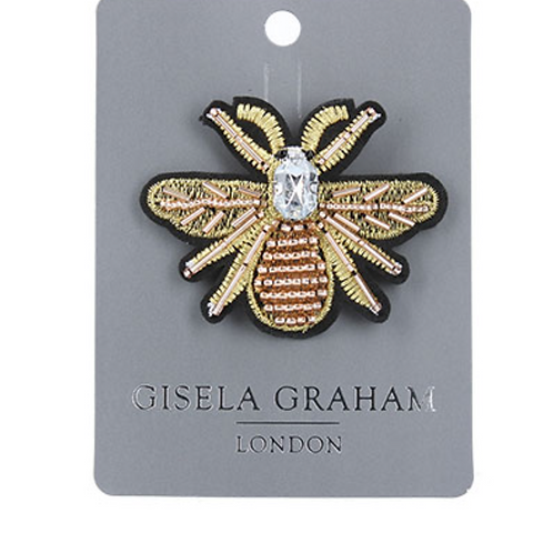 Jewelled Brooch 8cm - Bee/Gold