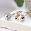 Thumbnail: Rose gold plated and clear crystal drop earrings