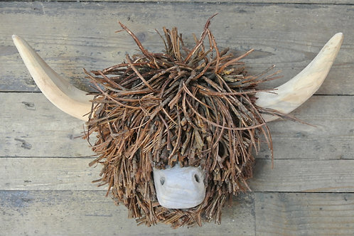 Highland Cow Wall Mounted Wooden Sculpture
