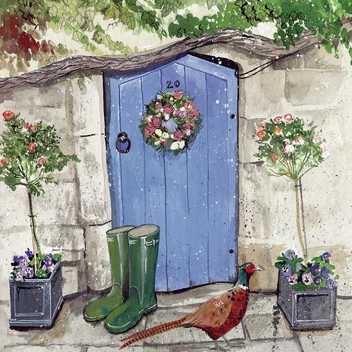 Cottage Door Blank Card