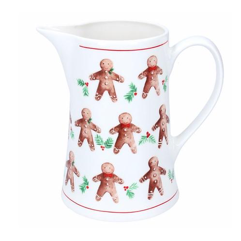 Gingerbread Men-Bone China Jug Small