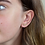 Thumbnail: Gold plated triple star earrings with crystals