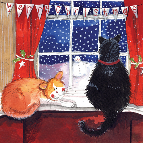 Christmas Window Cat Christmas Pack