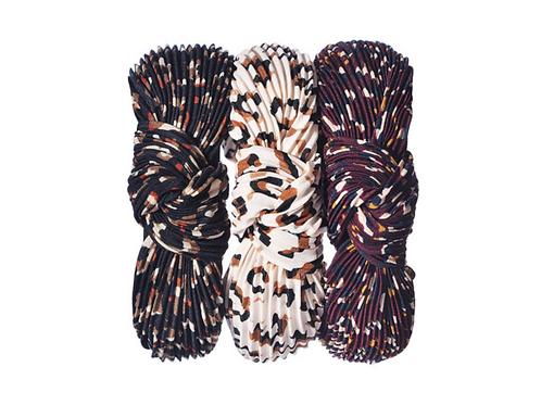Pleated Leopard print headbands