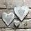 Thumbnail: Rustic heart coaster-Those we love don't go