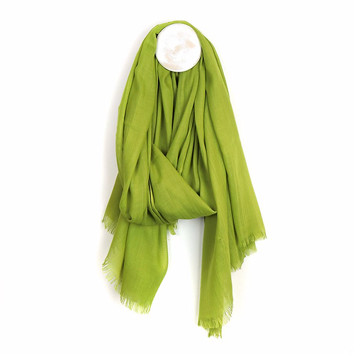 Plain lightweight scarf in lime green