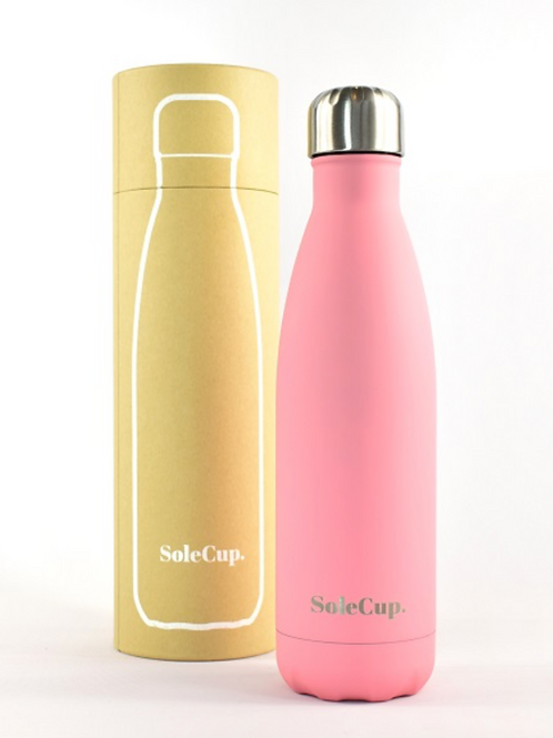 Pink Reusable Thermos Bottle