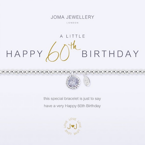 A LITTLE HAPPY 60TH BIRTHDAY BRACELET