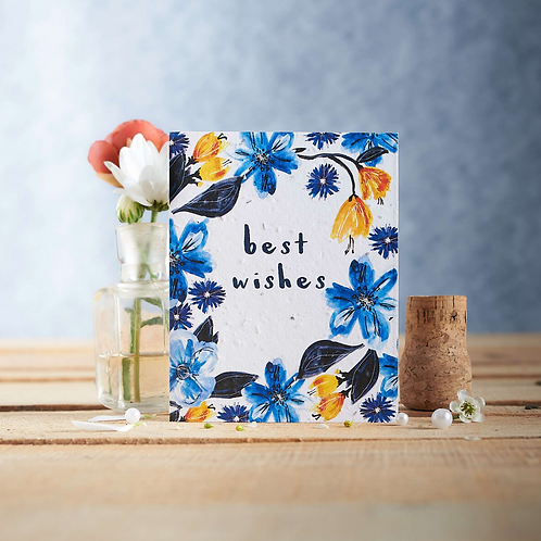 Best wishes – wildflower seed card