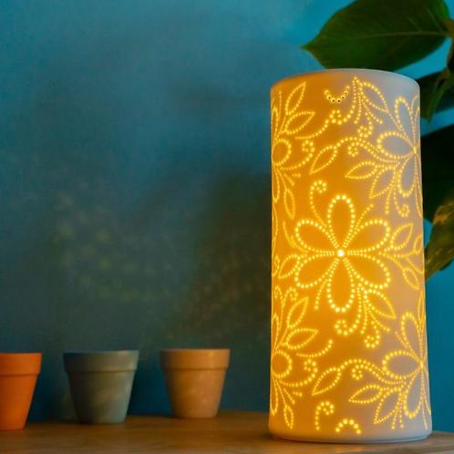 Ceramic Lamp – Flowers columna